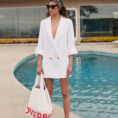 Take Your Zooms Poolside In This Chic Blazer Robe