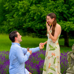 Inside Caroline Vazzana's Magical Lavender Field Engagement