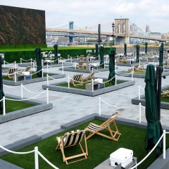 Rent Your Own Rooftop Mini Lawn At Pier 17