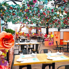 Eataly's Rooftop Reopens With The Flower-Filled Serra Fiorita By Birreria