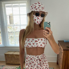 Harley Viera-Newton Takes Matchy-Matchy Mask Style To New Heights
