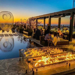 The Chicest Outdoor Dining Spots Literally Heating Things Up This Fall