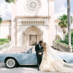 The Bride Wore Vintage Dior At This Glamorous (But Downsized) Kennedy Wedding In Miami