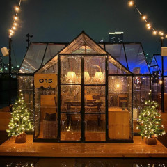 Upstate Downtown? Cozy Up In Your Own Rooftop Mini Cabin At Pier 17!