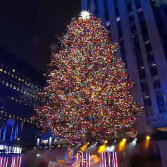 L'Avenue At Saks Rockefeller Center Christmas Tree Lighting Watch Party