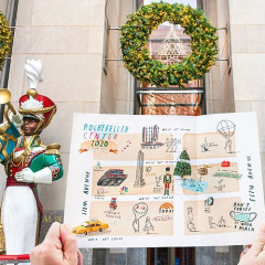 How Cool Is This Artist's Illustrated Holiday Map Of Rockefeller Center?!!