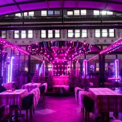 Think Pink This Holiday Season At Magic Hour's Pink Snow Lodge