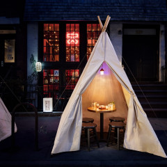 Cozy Up & Camp Out Japanese-Style Inside Katana Kitten's Candlelit Tents