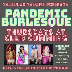 Pandemic Burlesque At Club Cumming