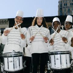 Manolo Blahnik's Marching Band Takes Madison Avenue