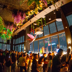This New Secret Garden-Inspired Lounge Boasts The Tallest Rooftop Pool In NYC