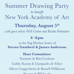 New York Academy Of Art Summer Drawing Party