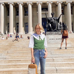 Indré Rockefeller Heads Back To School In Style