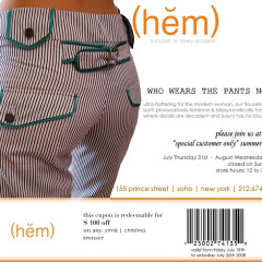 We're Wearing The Pants Now.  And We Got Them For $100 Off At (hem) Boutique!