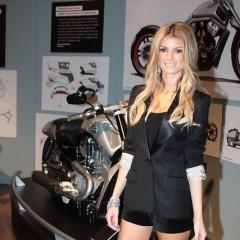 Marisa Miller Helps Present Harley Davidson's