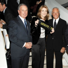 Caroline Kennedy May Not Have Her Senate Seat, But She's Still Popular Among Fashion Crowd, Keeps Friend Giorgio Armani By Her Side