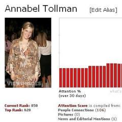 Annabel Tollman, This Week's