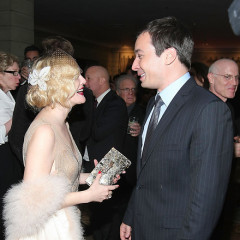 Drew Barrymore Gives Jimmy Fallon A Much Needed Laugh At Grey Gardens Premiere Party