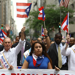 Photo Of The Day: Mayor Michael Bloomberg Celebrates Puerto Rican Day