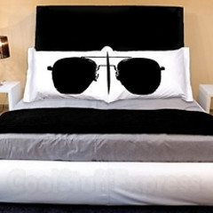 The Best Guests Come Bearing Gifts...Aviator Sunglass Pillowcases