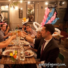Photo Of The Day: Balloons And Backyard Dining At Le Fooding