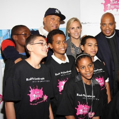 Russell Simmons, Rev Run & Tory Burch Unveil The National Arts Mural
