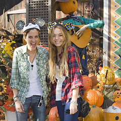 Photo Of The Day: Lindsay Lohan And Samantha Ronson Go Pumpkin Picking Along With Loads Of Other Celebrities