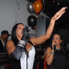 Surprise Guests Salt 'n' Pepa Kick-Off Halloween Festivities Early At DGI Management Party