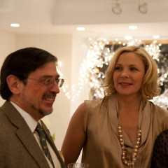 Kim Cattrall Stops By D.Porthault Holiday Party