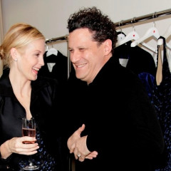 Kelly Rutherford And Isaac Mizrahi Share A Laugh At Holiday Cocktail Party