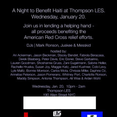 Partying For Haiti. A Roundup Of Events:
