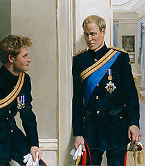 First Double Portrait of Princes William And Harry Unveiled