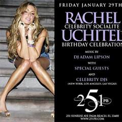 You're Invited To Rachel Uchitel's Birthday Party