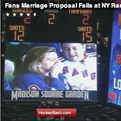 Real Couple Stages Fake Wedding Proposal, Rejection At Rangers Game