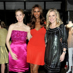 Kelly Rutherford And Iman Celebrate Badgley Mischka's Latest Collection For HSN