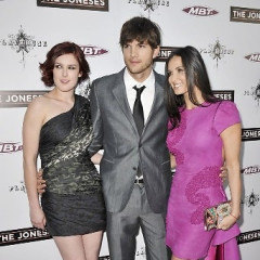 Demi and Ashton Attend The L.A. Premiere Of