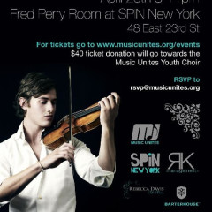 Today's Giveaway: Tickets To The Music Unites Benefit with Charlie Siem and Jamie Biden at SPiN NYC!