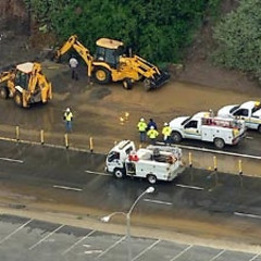 PCH Shut Down, 10 Fwy Halted After Drunk Driver Hits Water Main