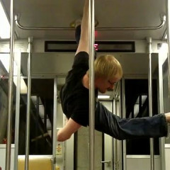 Breakdancers Spice Up Your Morning Commute