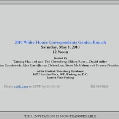 The White House Correspondents Day Garden Brunch Hosted By Tammy Haddad Kicks Off Day