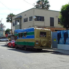 Hippie Mobiles Along Venice Streets To Get The Boot