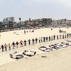 L.A. Joins Hands Across The Sand On Venice Beach