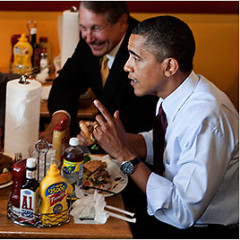 Spotted: Obama and President of Russia Enjoying An All-American Lunch