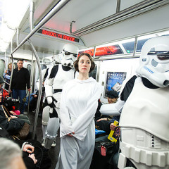 Star Wars Re-Enacted On The 6 Train