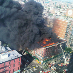 NYC Is Burning: Fire At Corner Of Houston And Avenue A