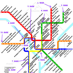 Map Of Missed Connections On The DC Metro