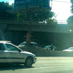 Photo Of The Week: Naked Man Graces The 405