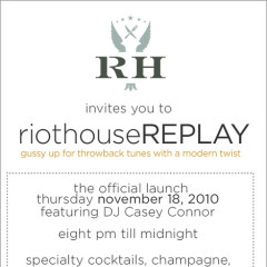 Come To The New RiothouseREPLAY TONIGHT With COMPLIMENTARY VALET & Win RH Chef's Tasting For 4!