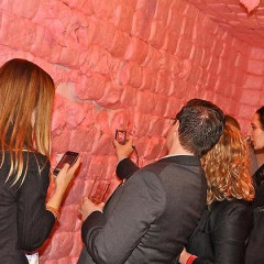 Guests Picked Dessert Right Off The Walls At Performa's Red Party