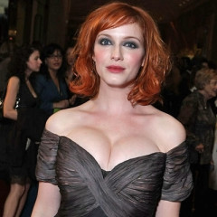 Christina Hendricks Loses Pricey Diamond Bracelet, Puts It In Ample Bosom